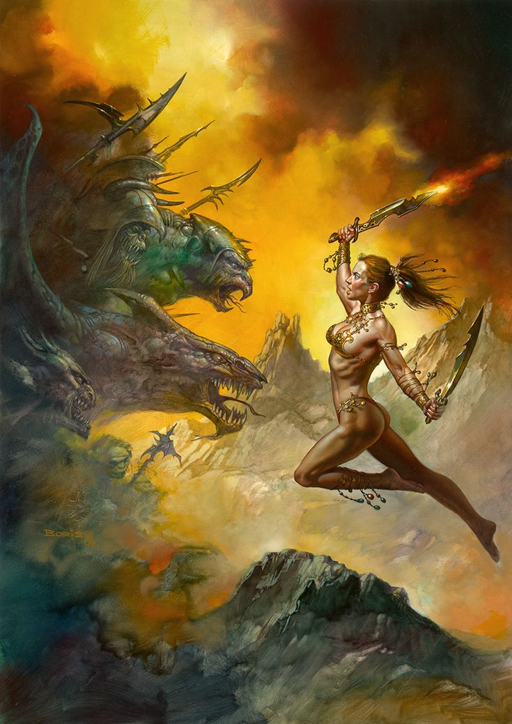 When The Mist Clears by Boris Vallejo. This original piece of fantasy art by Boris Vallejo is currently available for purchase.