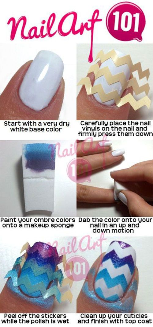 15 + Easy & Step By Step New Nail Art Tutorials For Beginners & Learners 2014