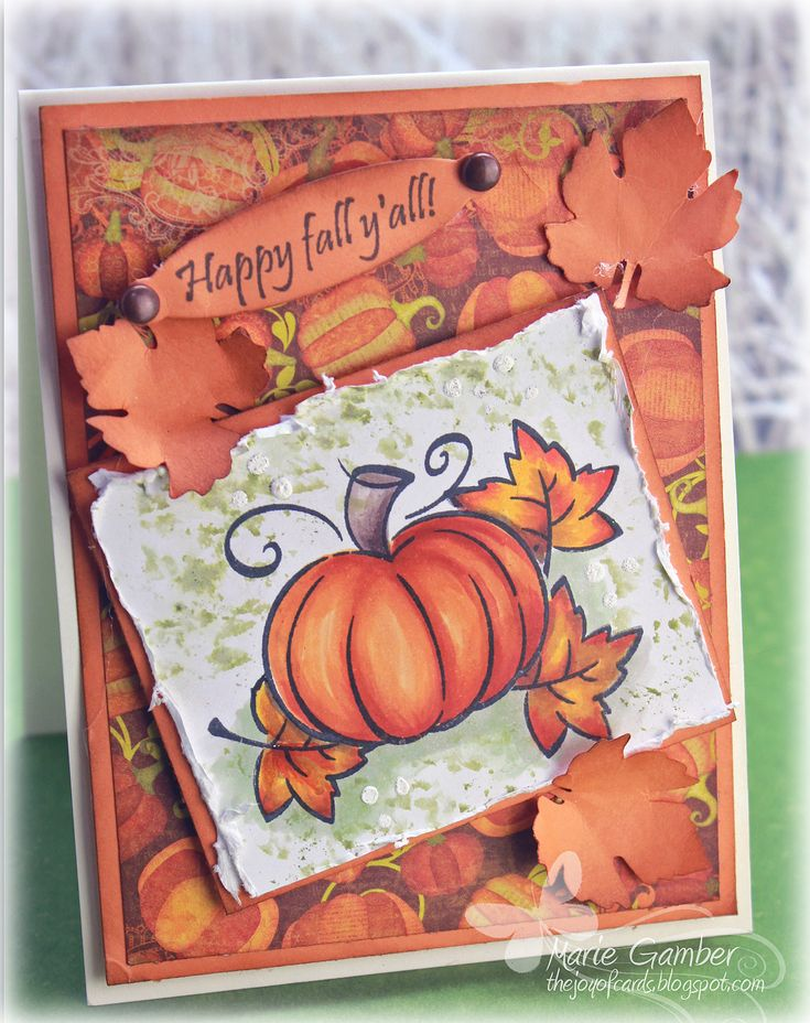 Copic card and coloring tutorial video using the Lawn Fawn - Harvest Season stamp set. Made by Marie