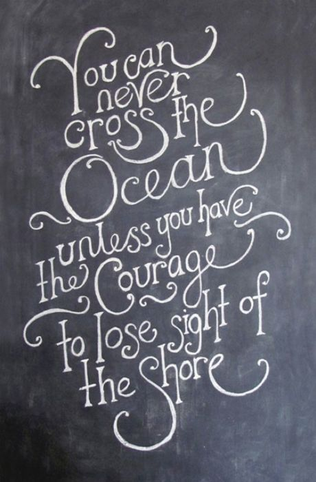 You can never cross the Ocean unless you have the Courage to