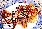 Haddock with Peach and Pepper Salsa