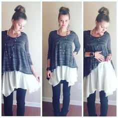 shirt extender-slip on this asymmetrical shirt extender for length and a great flowy look!