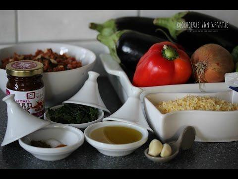 Aubergine-Gehakt ovenschotel - Kookhoekjevanxfaatje - YouTube