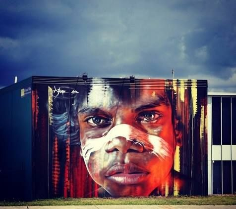 Fresh new wall by Adnate for the Hit the Bricks Street Art Festival, part of LOOK HEAR in Newcastle, Australia. (via Savage Habbit)
