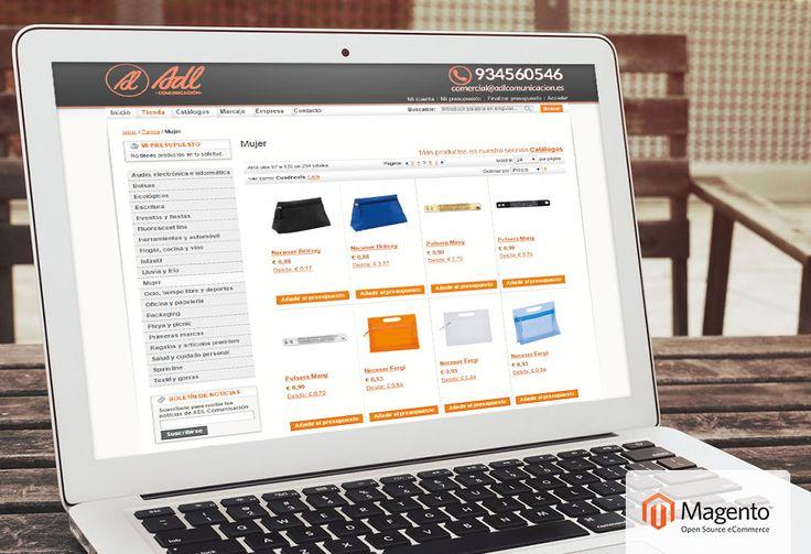 Gestión tienda online Magento para ADL Comunicación | Dolphin Tecnologías