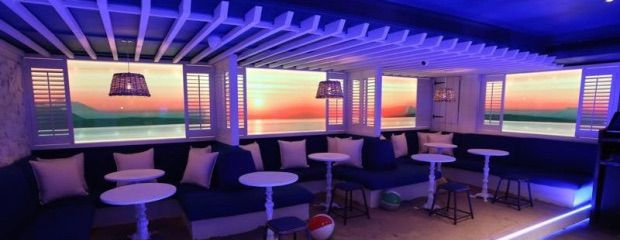This sandy beach-themed bar is ideal for the summer, but it's still got some work to do