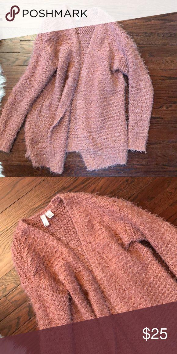 Sweater Cardigan Dark peach color sweater cardigan Soooo warm  Open cardigan  Forever 21 Long  Long sleeve Forever 21 Sweaters Cardigans