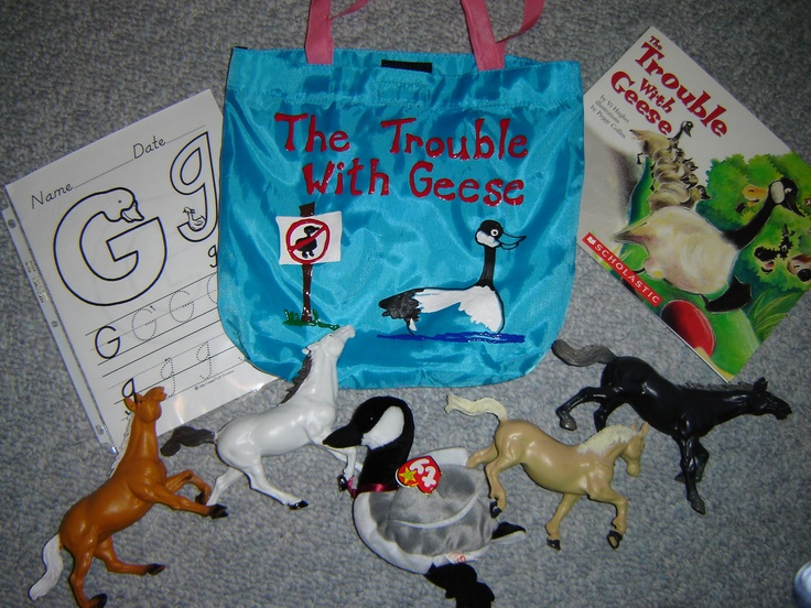 Trouble with Geese literacy bag