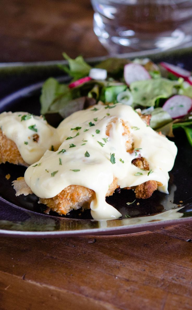 A lightened-up version of a popular crispy cheddar chicken recipe, popular on Pinterest! We promise it'll pass the family taste test! via @onceamonthmeals
