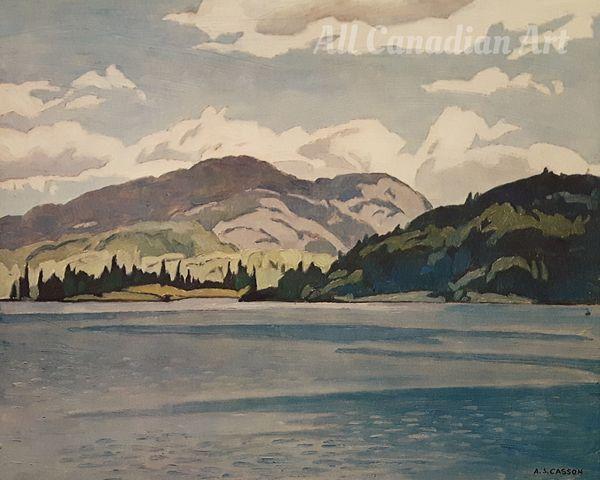 Kamaniskeg Lake (Summer) by A J Casson | All Canadian Art
