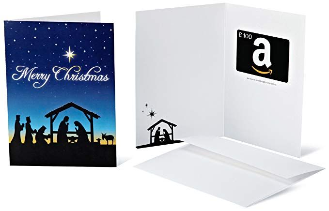 Amazon Co Uk Gift Card In A Greeting Card 100 Christmas