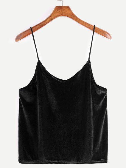 Black Velvet Cami Top Mobile Site