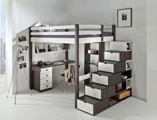Mais de 1000 ideias sobre lit mezzanine 140 no pinterest - Lit double en hauteur ...