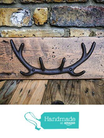 Antler Wall Mounted Coat Hook Made From Reclaimed Victorian Floor Board from MooBoo Home https://www.amazon.co.uk/dp/B01LZ7A6BF/ref=hnd_sw_r_pi_dp_mJTmyb9GTG66J #handmadeatamazon