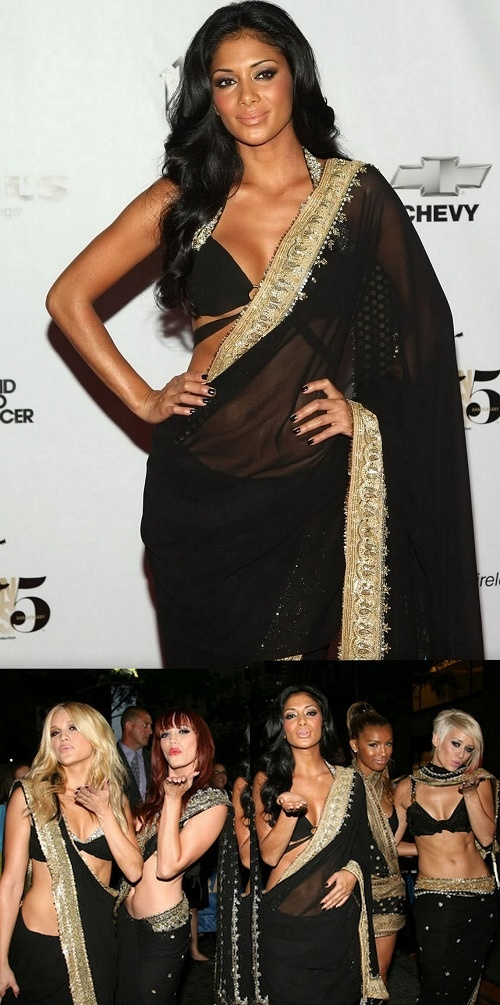 Hollywood babes that Rocked in Saree ! Pussy cat dolls look sizzling sexy in black sarees !