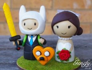 We really, really need this. I've seen superheros like this, but never Adventure Time! Etsy Finds: Cute Superhero Cake Toppers