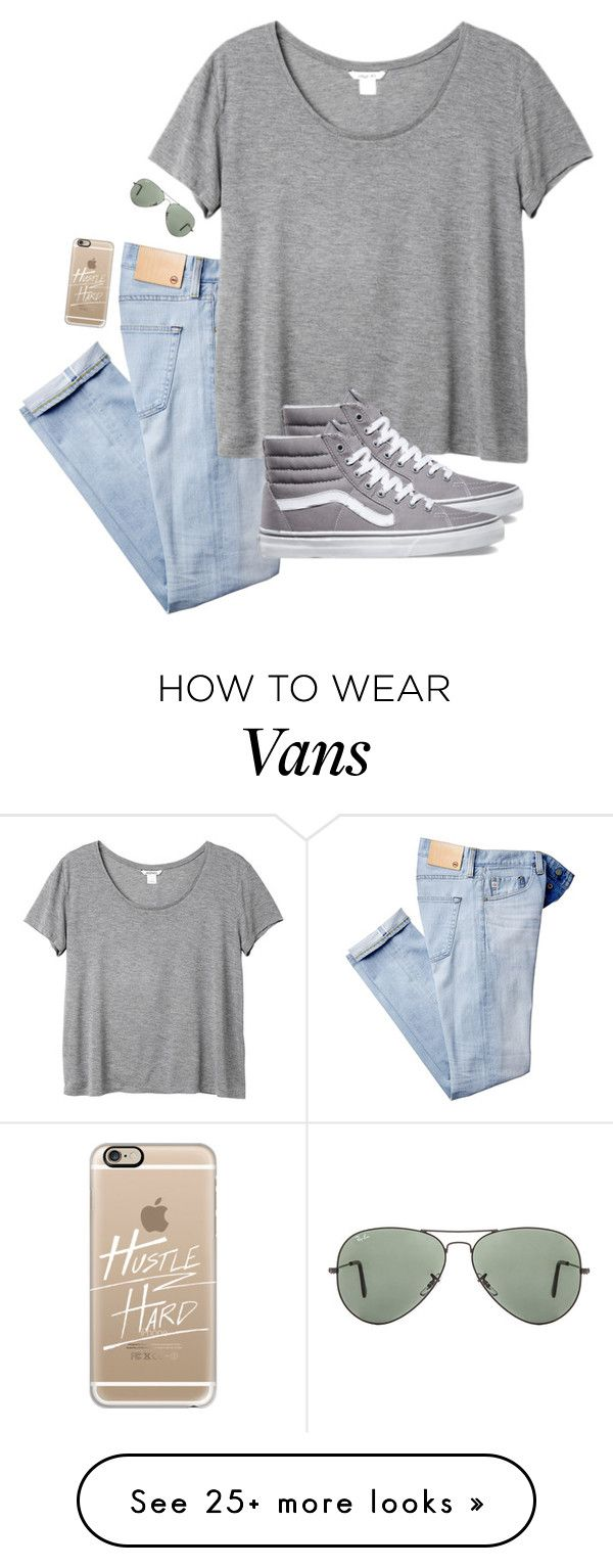 """you'll never make me, because the world will never take my heart"" by kenandsuch on Polyvore featuring AG Adriano Goldschmied, Monki, Vans, Ray-Ban and Casetify"