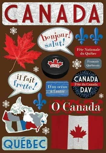 Karen Foster French Canada Cardstock Scrapbooking Stickers  | eBay