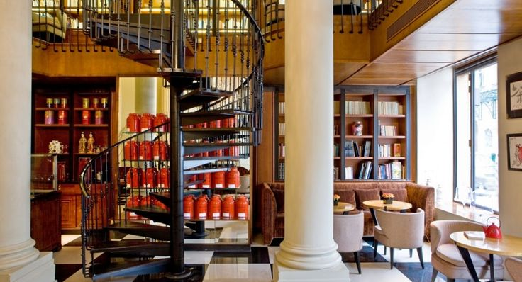 La sala da tè dell'Hotel Scribe, a Parigi (Credits Gilles Trillard)