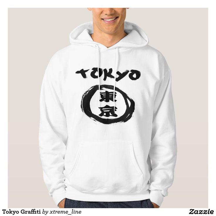 Tokyo Graffiti Kanji Hooded Pullover. Japanese Themed Apparel.