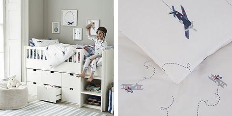 Plane Print Bed Linen