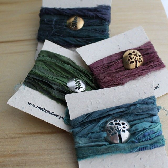 These Plant a Tree wrap bracelets are perfect for warming up your chilly wrists! And the packaging is plantable! #fallfashion #fallcolours #autumn #wrapbracelet #plantatree #slashpiledesigns