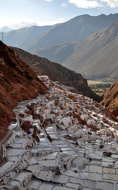 Salt pans in Sacred Valley of the Incas (Urubamba Valley), Perú
