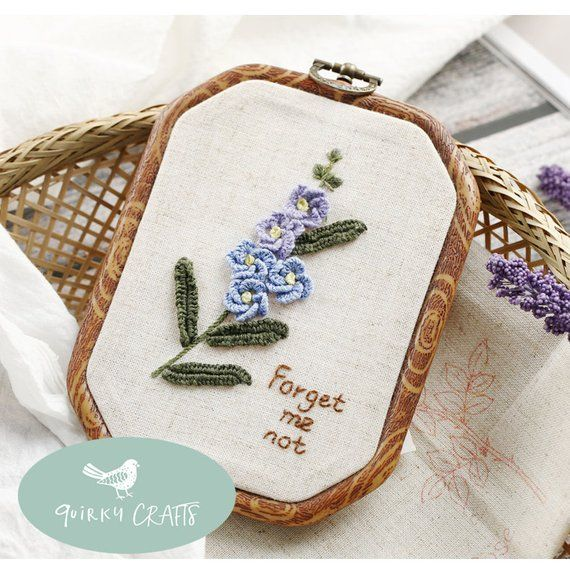 Modern 3 Dimensional Floral Embroidery Kit For Beginner Etsy In 2021 Beginner Embroidery Kit Diy Embroidery Kit Embroidery Kits