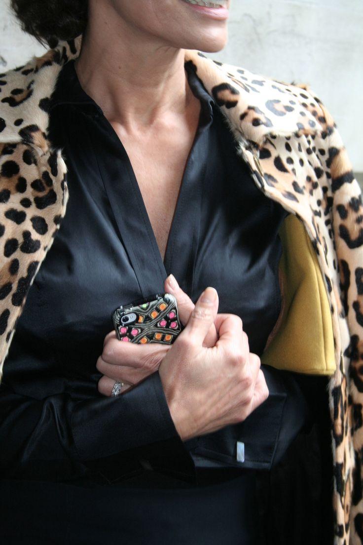 Silk chic #leopardprint #iphone #black #somersethouse #london #fashionweek