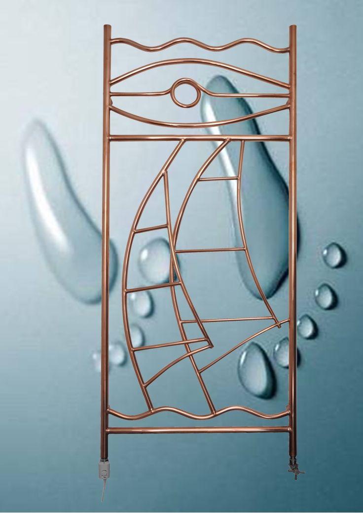 69 best tubi di rame e arredamento images on pinterest - Radiateur seche serviette miroir ...