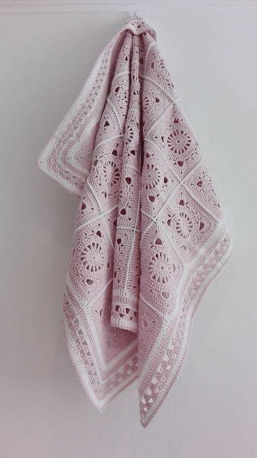 LuJo / Veľká detská háčkovaná deka- pre malú princeznú