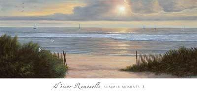 Diane Romanello Seascape Painting Summer Moments II Art Print