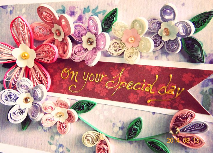 #quilling #handmade card, inspired from FromQuillingWithLove cards