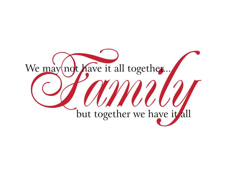 Family Quotes And Sayings: Family Vinyl Wall Decal We May Not Have It All Together
