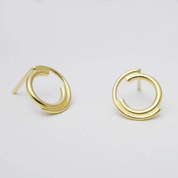 Unique Earrings Contemporary Fashion Earrings Silver Swirl Earrings Lightweight Drop Earrings Hook Earrings Abstract Earrings