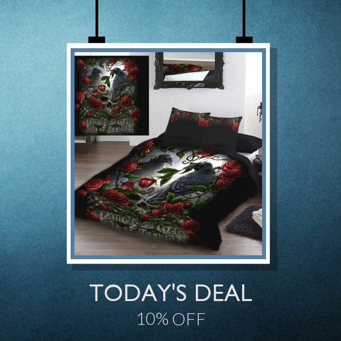 Today Only! 10% OFF this item.  Follow us on Pinterest to be the first to see our exciting Daily Deals. Today's Product: Sale - 10% OFF GOTHIC Duvet Cover Set - Double Bed Size Buy now: https://small.bz/AAbF7kE #musthave #loveit #instacool #shop #shopping #onlineshopping #instashop #instagood #instafollow #photooftheday #picoftheday #love #OTstores #smallbiz #sale #dailydeal #dealoftheday #todayonly #instadaily