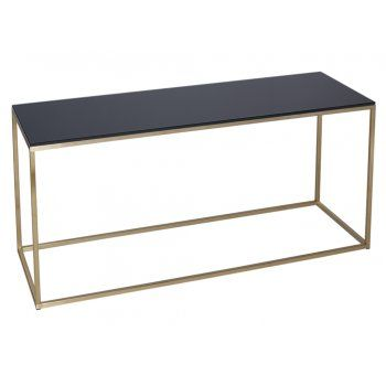 Buy Black Glass and Gold Metal TV Stand from Fusion Living