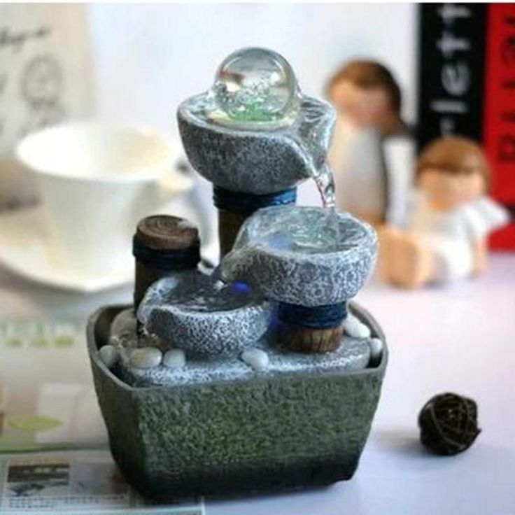 Flowing Water Stress-Relieving Desk Fountain #CheapHomeDecor