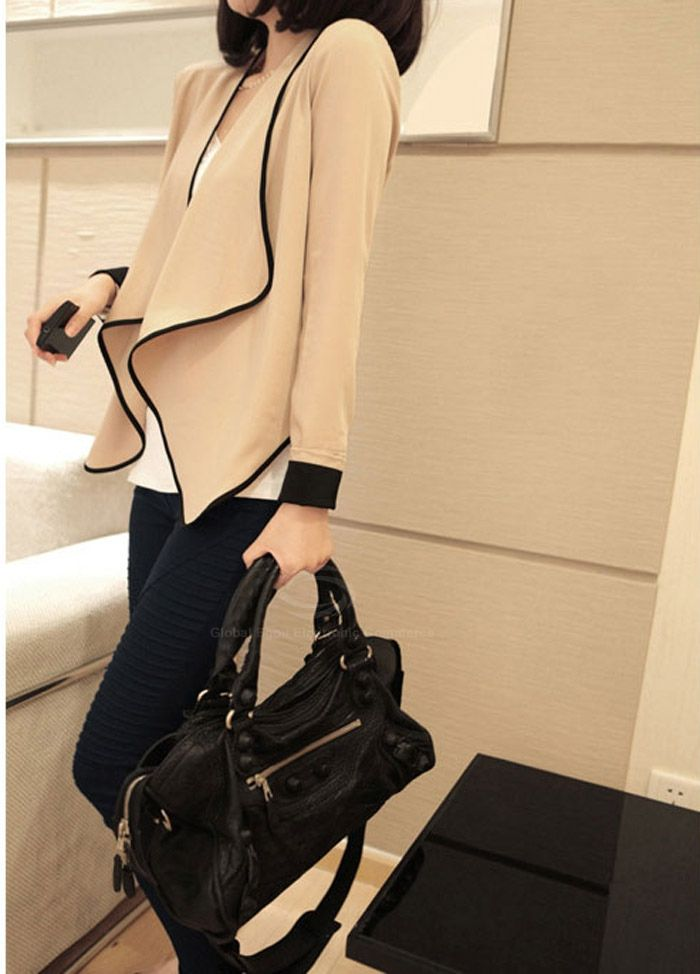Women's Ladies Long Sleeve shoulder pad All-Match Loose Short Jacket CoatVintage Jackets | RoseGal.com