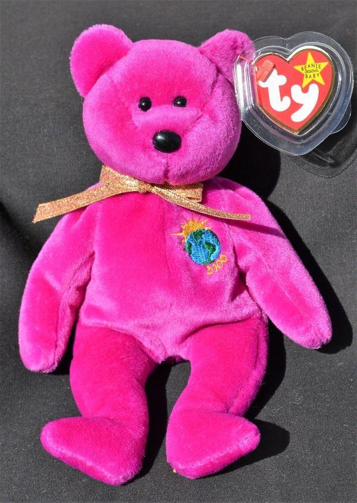dba7db7100d Details about Ty Beanie Baby Millennium Bear Ty Glory the bear