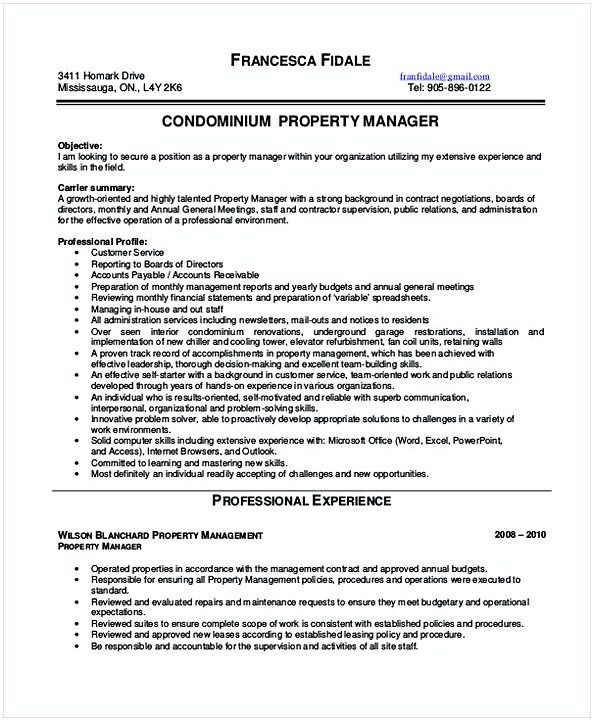 Best 25+ Property management ideas on Pinterest Commercial - property manager resume sample