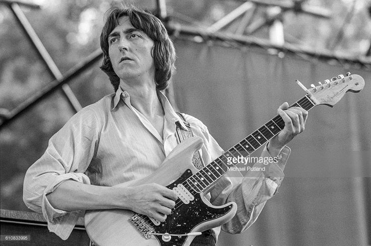 Allan Holdsworth performing with English progressive rock supergroup, U.K. in Central Park, New York City, 7th July 1978. The band are supporting Al DiMeola.