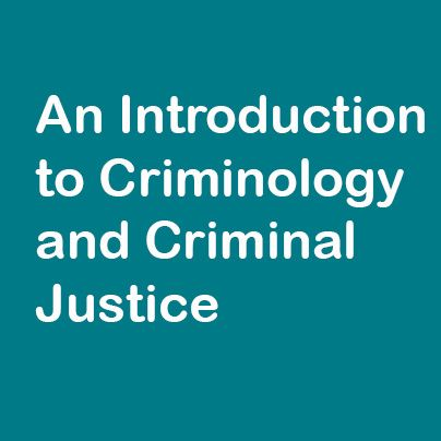 Criminology subject for study
