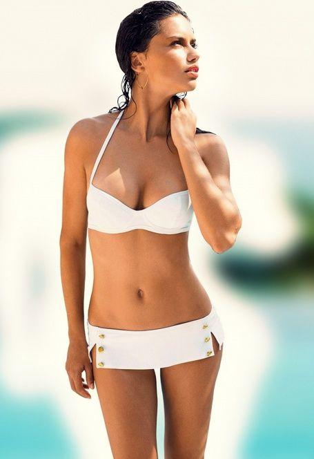 Adriana Lima White Bikini 78
