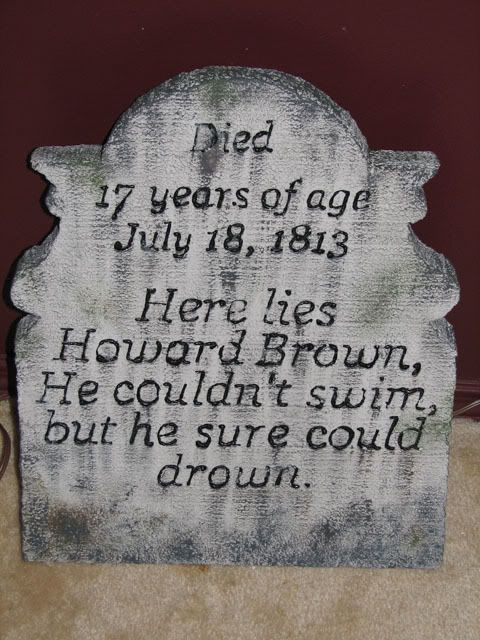 epitaph - Funny Halloween Tombstone Names