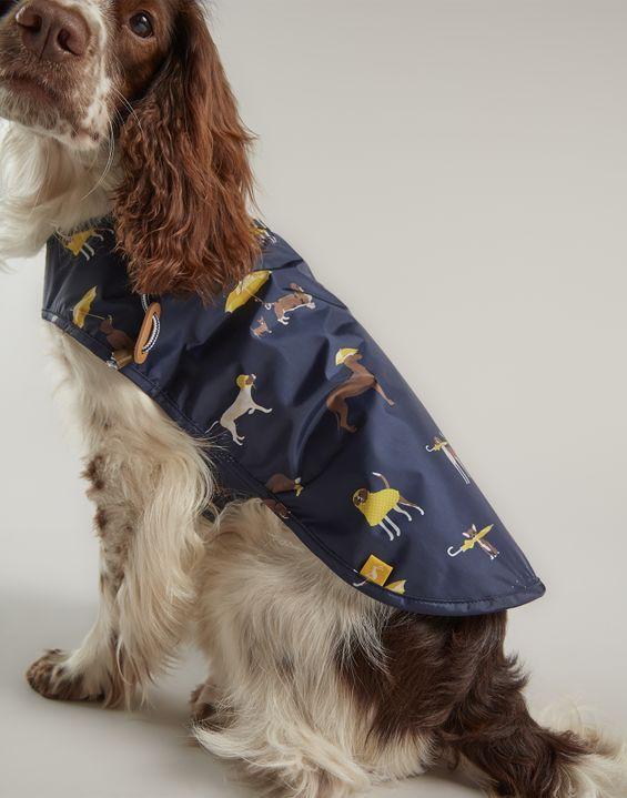 Rain Jacket Coastal Dog Print Water Resistant Pet Coat Joules Uk Dog Print Pets Rain Jacket