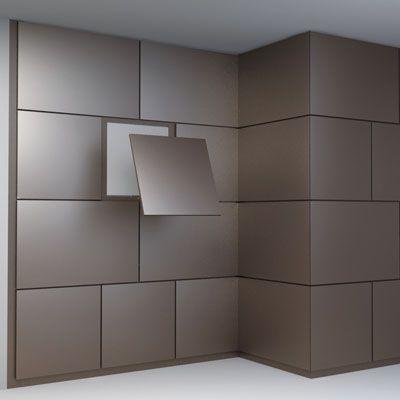 plaques de zinc, habillage de murs intérieurs