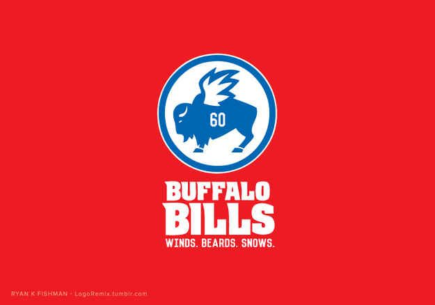 Buffalo Bills x Buffalo Wild Wings | Every NFL Logo Redesigned As A Popular Brand