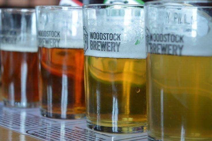 Beer testing at Woodstock Brewery