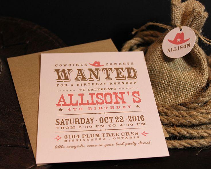 Western, Cowgirl themed invitation Design #bykoketdesign